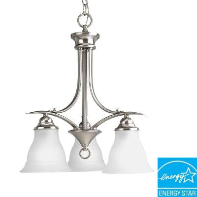 Trinity Collection 3-Light Brushed Nickel Chandelier