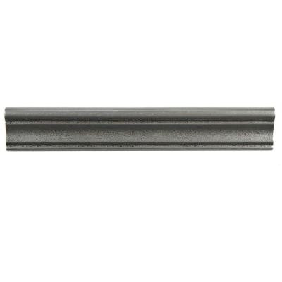 Contempo Onda Pewter Moldura 2 in. x 12 in. Metallic Wall Trim Tile