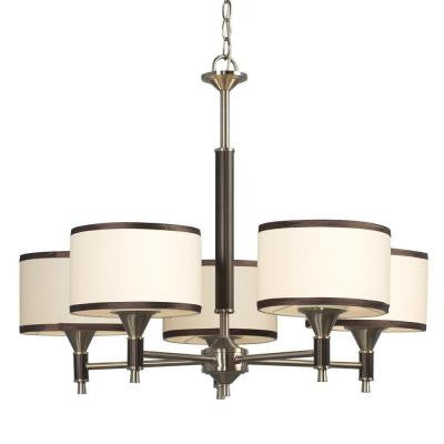 Negron 5-Light Brushed Nickel Incandescent Chandelier