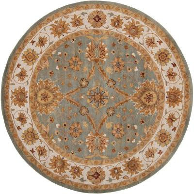 Piratini Pigeon Gray 8 ft. Round Area Rug