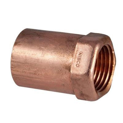 3/4 in. x 1/2 in. Copper Pressure Cup x FIPT Female Adapter