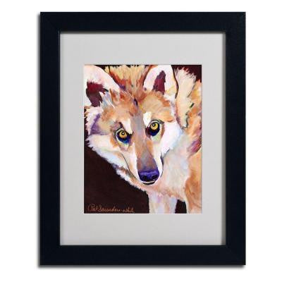 11 in. x 14 in. Night Eyes Matted Framed Art