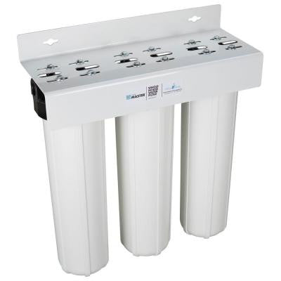 Home Master Whole House Three Stage, Fine Sediment, Iron and Carbon Water Filtration System