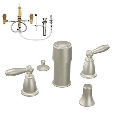 Brantford 2-Handle Bidet Faucet Trim Kit in Brushed Nickel - Valve Included