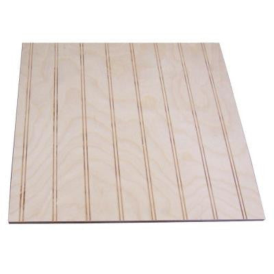32 sq. ft. Unfinished Birch Paneling with 1-1/2 in. Round Bead