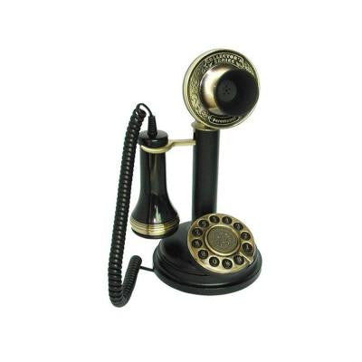 Analog Corded 1909 Chicago Replication Stick Phone with Faux Rotary Dial