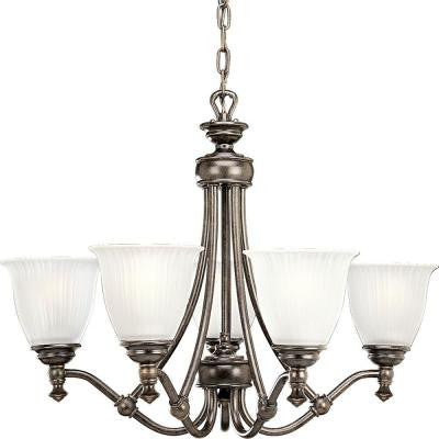 Renovations Collection 5-Light Forged Bronze Chandelier