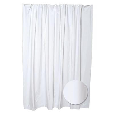 70 in. W x 72 in. H PVC/Vinyl Shower Liner Heavy Gauge in White