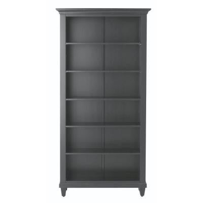 Martin 6-Shelf Open Bookcase in Black