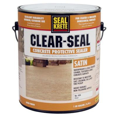 1 gal. Satin Clear Seal Concrete Protective Sealer