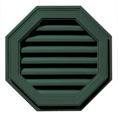22 in. Octagon Gable Vent #028 Forest Green
