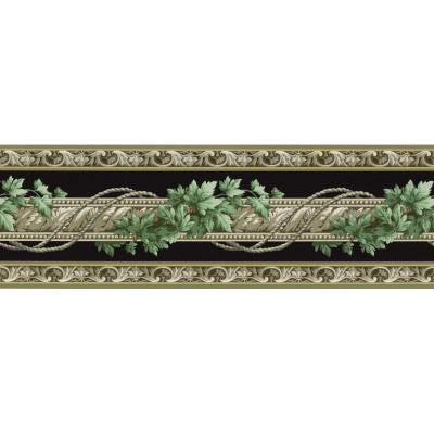 6.83 in. x 15 ft. Black Architectural Ivy Border