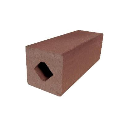 Vantage 4-1/4 in. x 4-1/4 in. x 51 in. Mahogany Solid Composite Square Post with Center Chase