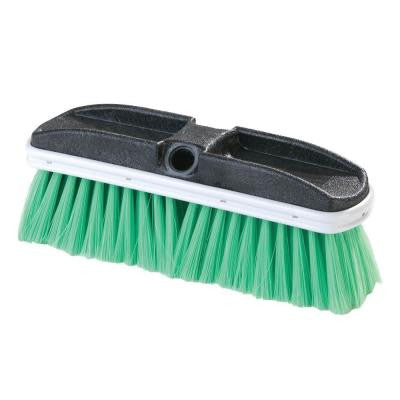 10 in. Flo-Thru Flagged Green Nylex Truck Wash Brush (Case of 12)