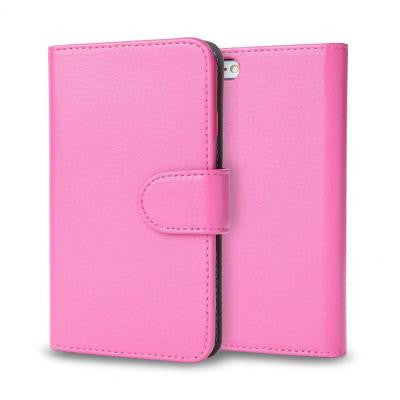 Leather Book Wallet Case for Apple iPhone 6 / 6S 4.7 Case - Pink