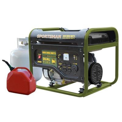 4000-Watt Dual Fuel Generator, Runs on LPG or Regular Gasoline, CARB Compliant
