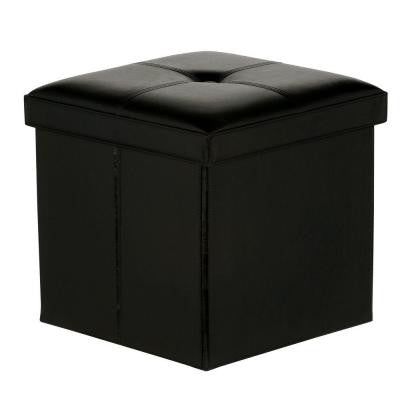Folding Ottoman in Black