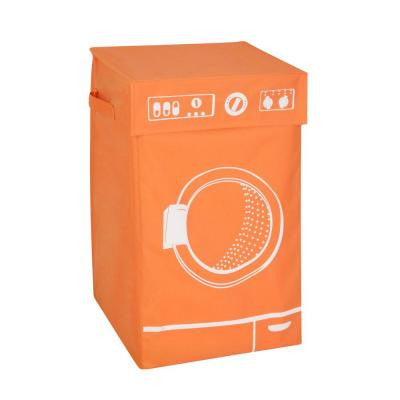 Washing Machine Graphic Hamper in Orange