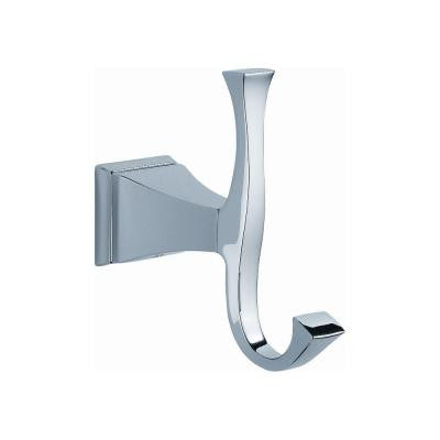 Dryden Single Robe Hook in Polished Chrome