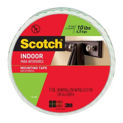 Scotch 0.75 in. x 9.72 yds. Indoor Mounting Tape