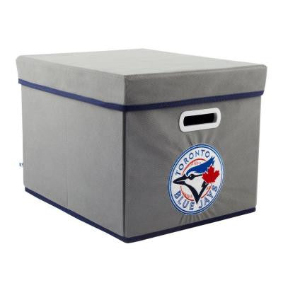 MLB STACKITS Toronto Blue Jays 12 in. x 10 in. x 15 in. Stackable Grey Fabric Storage Cube