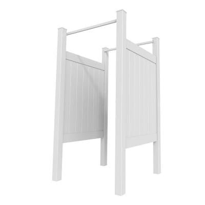 5 ft. x 4 ft. Outdoor Shower Stall Kit (Unassembled)