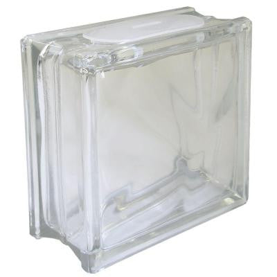7-1/2 in. x 7-1/2 in. x 3-1/8 in. Glass Blocks for Crafting (4-Piece/Case)