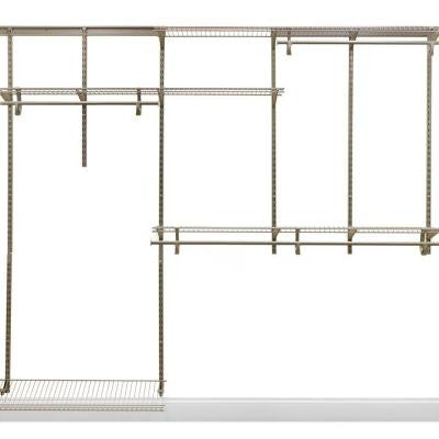 ShelfTrack 5 ft. - 8 ft. Nickel Closet Organizer Kit
