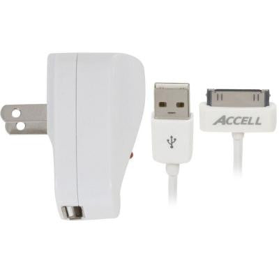 AC Power Adapter and USB Sync/Charge Cable for iPod or iPhone