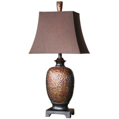 32.5 in. Bronze-Leaf Table Lamp