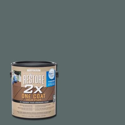 1 gal. 2X Pewter Solid Deck Stain with NeverWet