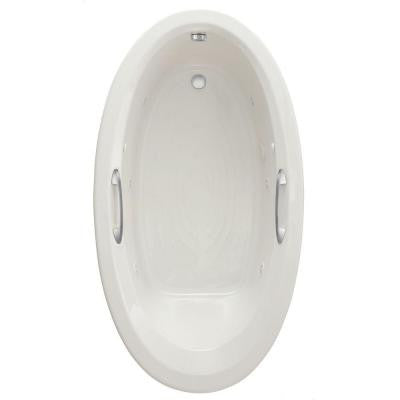 Ellisse Oval EcoSilent 5.83 ft. Whirlpool Tub in White