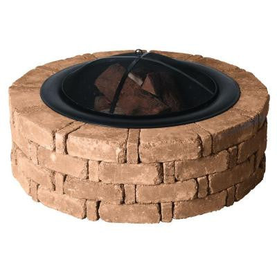 45.8 in. x 14 in. Rumblestone Round Fire Pit Kit in Sierra Blend