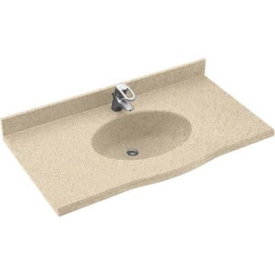Europa 49 in. W x 22-1/2 in. D x 11-38 in. H Solid-Surface Vanity Top in Bermuda Sand with Bermuda Sand Basin