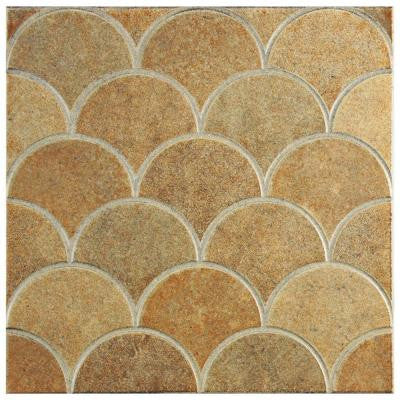Escama Beige 13-1/8 in. x 13-1/8 in. Ceramic Wall and Floor Tile (7.22 sq. ft. / case)