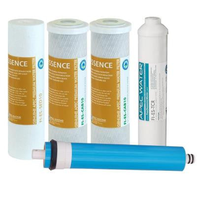 Essence Complete 5-Stage 50 GPD Industry Standard Size Reverse Osmosis Replacement Filters Set