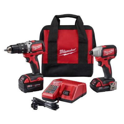 M18 18-Volt Lithium-Ion Cordless Compact Brushless Hammer Drill/Impact Combo Kit (2-Tool)