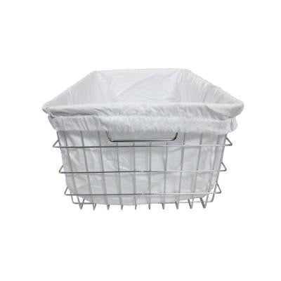EcoStorage 13 in. W x 9.25 in. H Chrome Wire Basket with Cover (2-Pack)