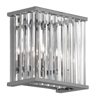 Mina 2-Light Polished Chrome Sconce