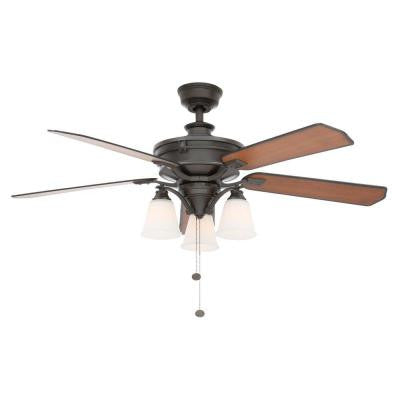 Beverley II 52 in. Natural Iron Ceiling Fan
