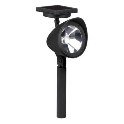 Solar Powered High Output LED Black Spot Light with Auto Dim