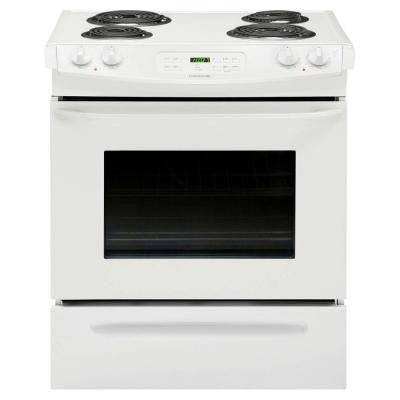 30 in. 4.6 cu. ft. Slide-In Electric Range with Self-Cleaning in White