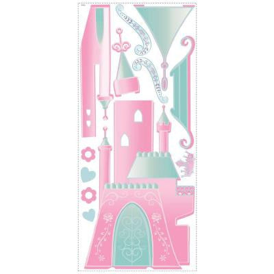 Disney Princess-Castle Peel and Stick Giant Wall Decor with Personalization