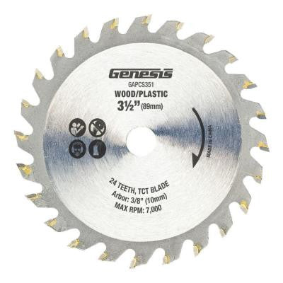 3-1/2 in. 24-Tooth Tungsten Carbide Tipped Saw Blade