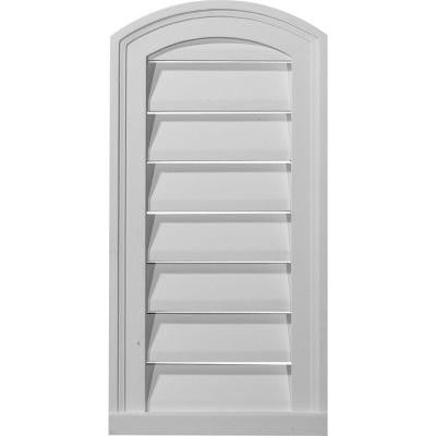 2 in. x 18 in. x 30 in. Functional Eyebrow Gable Louver Vent
