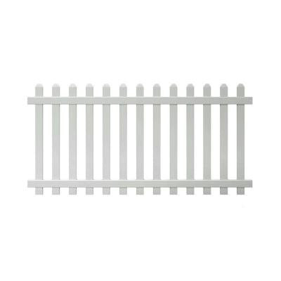 Glendale 4 ft. x 8 ft. Spaced Picket Vinyl Fence Panel with Dog Ear Pickets - Unassembled