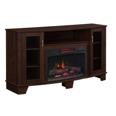 Grand Haven 59 in. Media Electric Fireplace in Dark Cherry