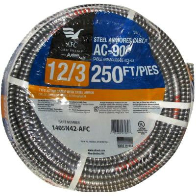 250 ft. 12-3 BX/AC-90 Solid Cable