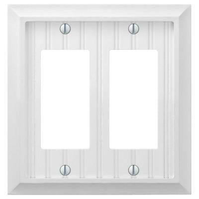 Cottage 2 Gang Decora Wall Plate - White