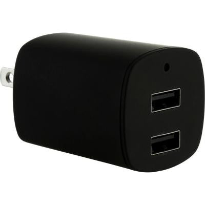 2.1-Amp Dual Port AC to USB Adapter - Black